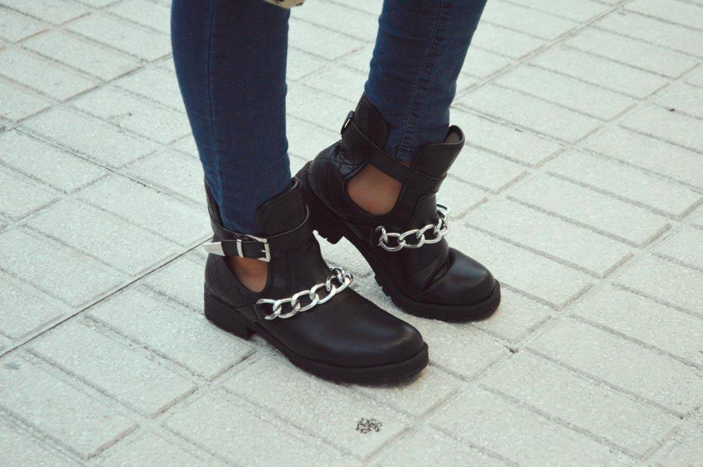 Botas roqueras negras