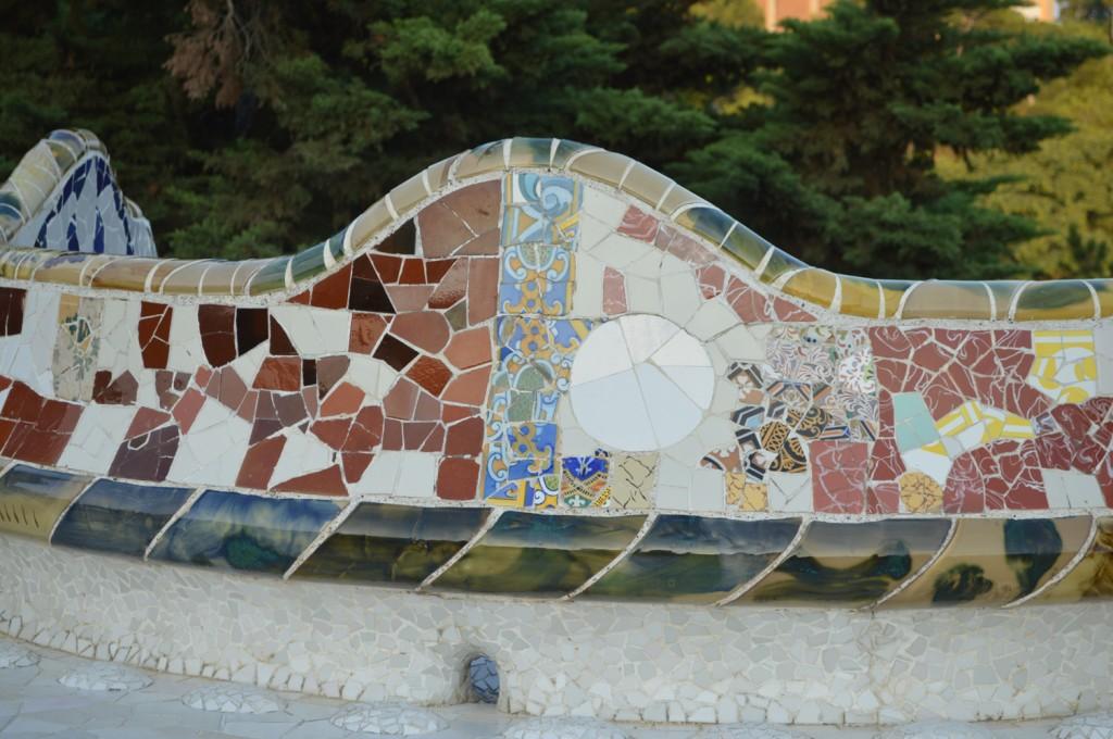 Parque colorido en Barcelona