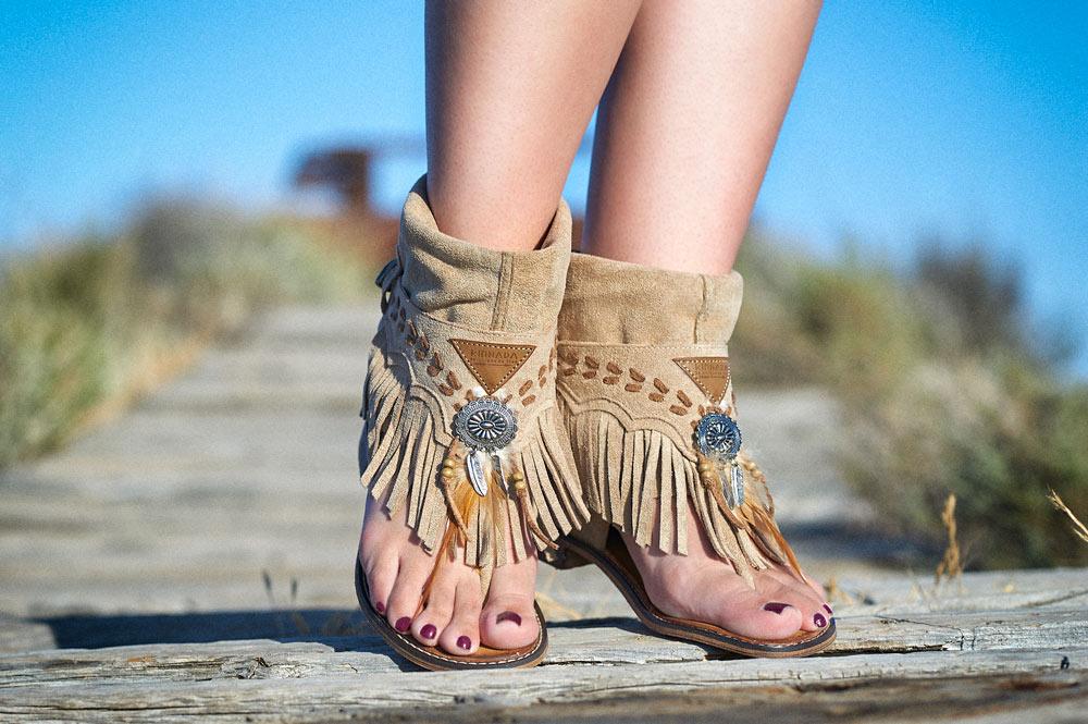 Sandalias boho top del verano