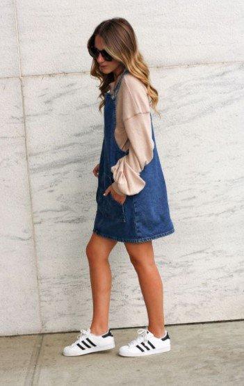 falda de mezclilla zapatillas de deporte de mezclilla de primavera