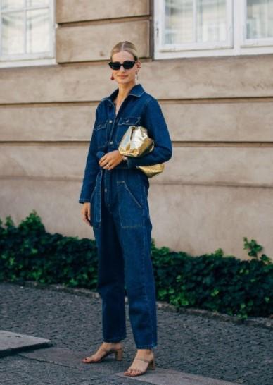 mono de jeans trajes de jeans de moda
