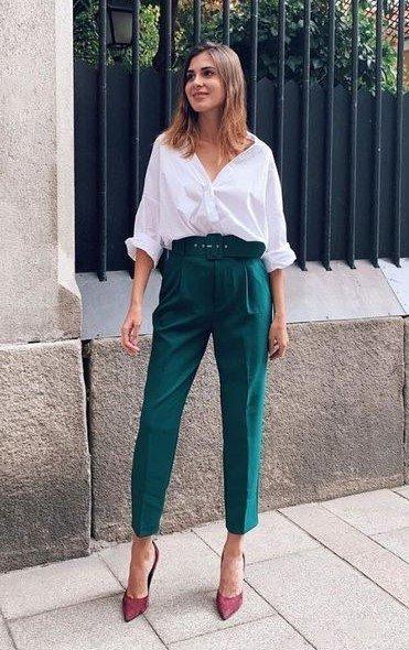camisa pantalón verde