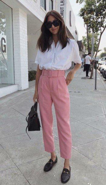 camisa pantalón rosa