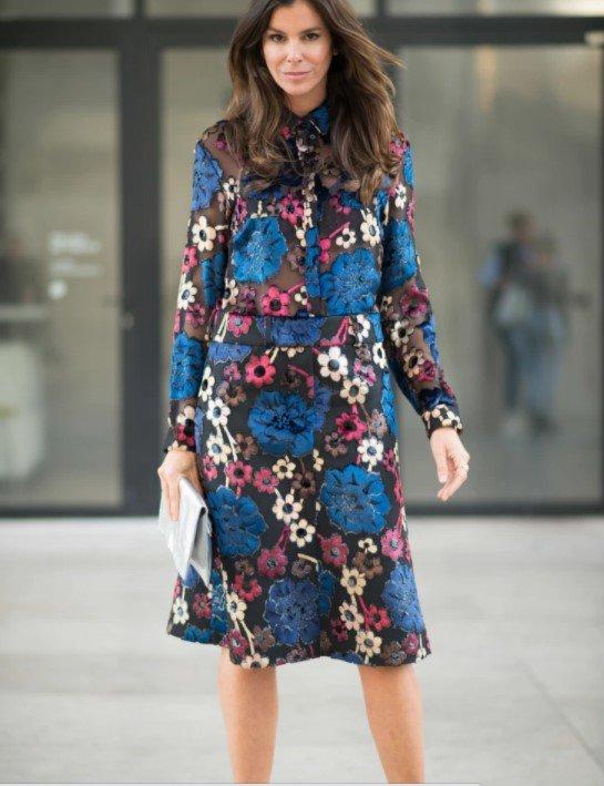 vestido floral formal