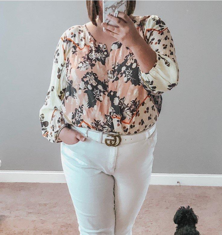 camisas florales ropa de primavera pantalones blancos