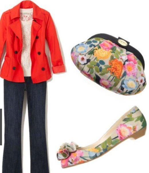 bolso de bailarina con flores