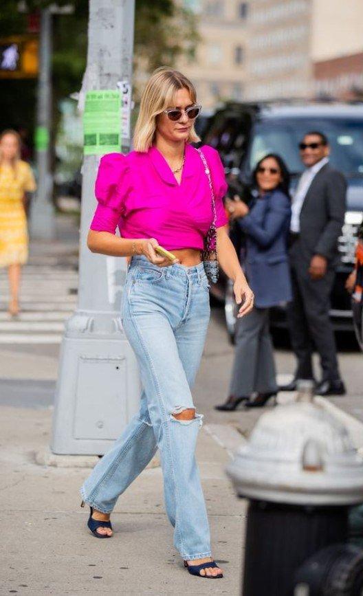 ropa moderna con jeans