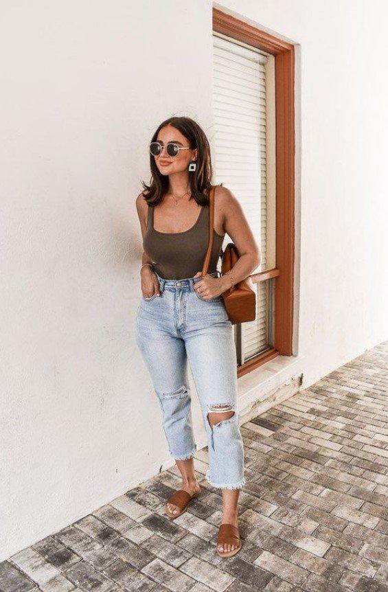 vestido de verano con jeans boyfriend