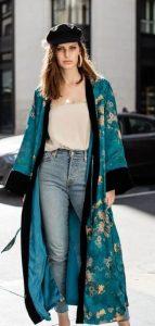 vestido diario con kimono