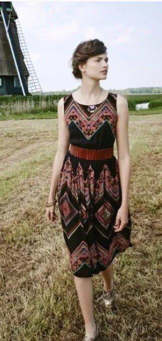 vestido midi boho vestido de primavera