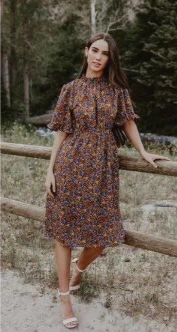 vestido corto boho