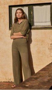 pantalones de mango con bordado