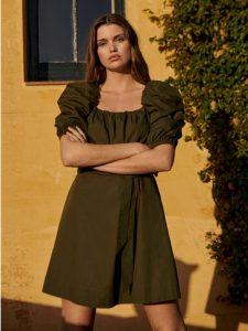 aceite vestido corto mango