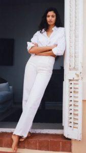 camisa mujer mango blanco