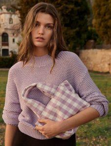 blusa lila para mujer verano 2021
