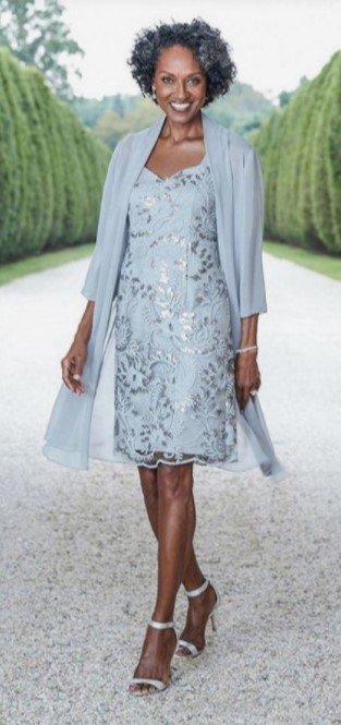 vestido midi azul vestido hija civil boda