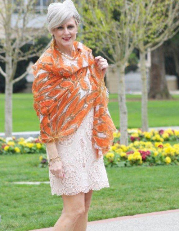 novia mamá vestido bufanda