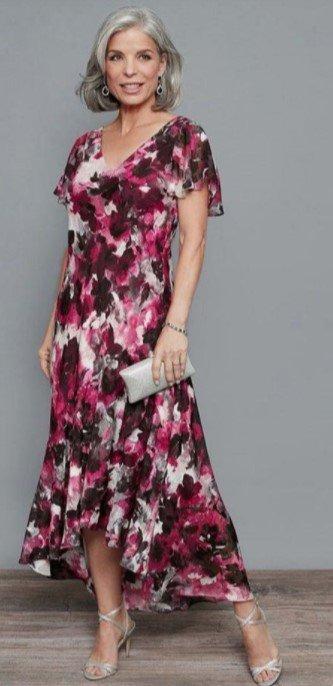 vestido floral asimétrico vestido si mi hija boda