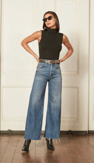 jeans con cremallera calzoncillos camiseta negra