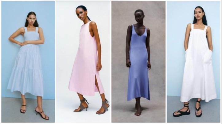 vestidos de color pálido ropa de verano Zara 2021
