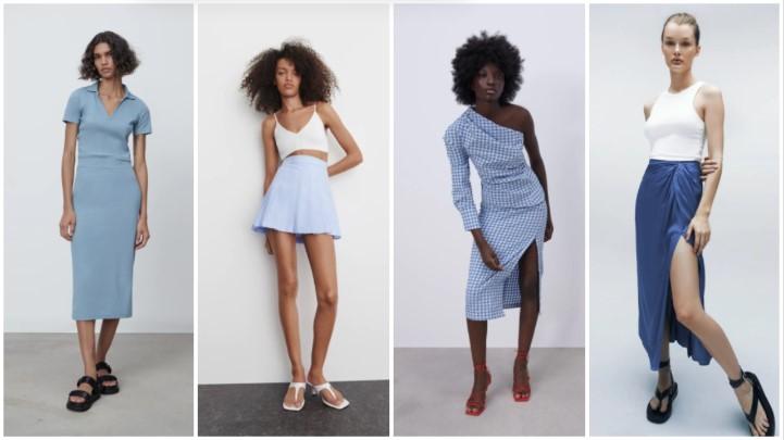faldas azules