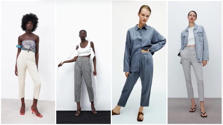 blanco negro gris pantalón ropa verano Zara 2021