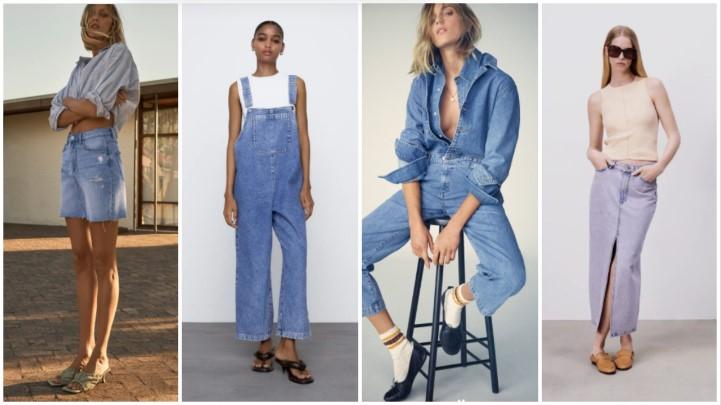 faldas vaqueras monos ropa verano Zara 2021