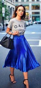 vestido con falda plisada
