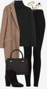 jeans ajustados con abrigo