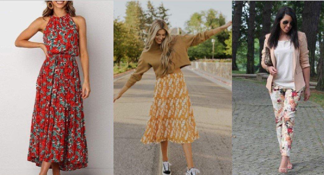 ¡Cómo hacer combinaciones con prendas florales esta primavera!