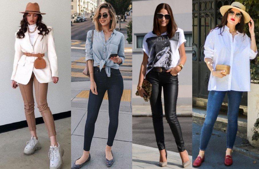 7 ¡Vestidos elegantes con jeans ajustados o leggings!