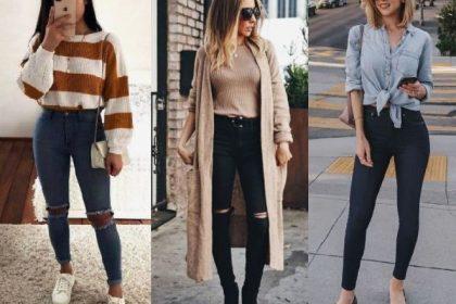 Atuendos para hacer que tus jeans ajustados sean elegantes