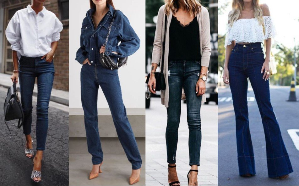 ¡8 ideas para vestirse con jeans oscuros!