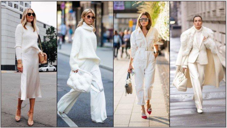 ¡Formas elegantes de llevar un atuendo blanco de invierno!