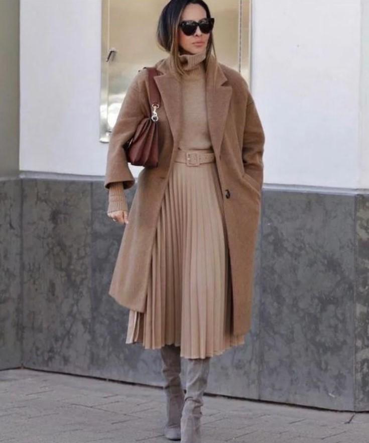 ropa de mujer de invierno con abrigo