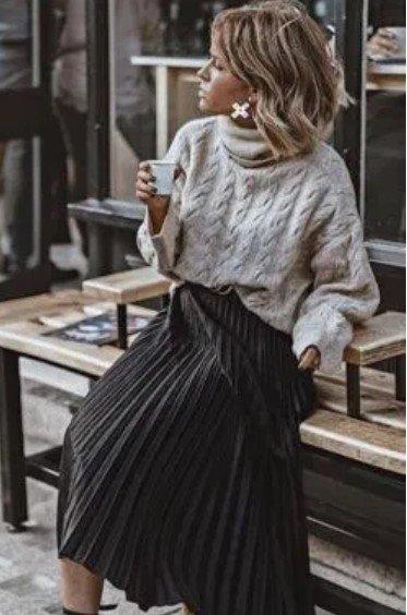 falda de blusa de punto