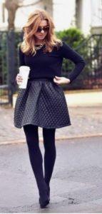 falda en linea con tacones