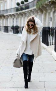 botas altas con abrigo