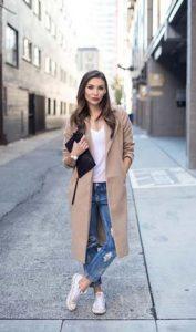 jeans y abrigo