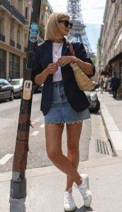atuendo diario con falda