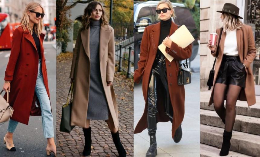 ¡10 formas modernas de llevar un abrigo de mujer!