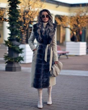 abrigo de dos tonos