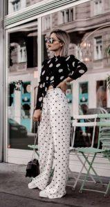 vestido blanco y negro