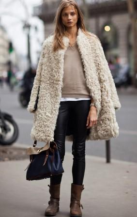 abrigo de piel de mujer
