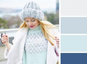 combinación de ropa de color blanco menta
