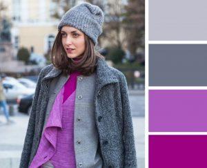 tonos de combinación gris lila púrpura