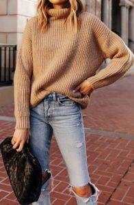 vestido con suéter