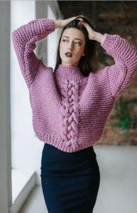 combinación de falda de suéter