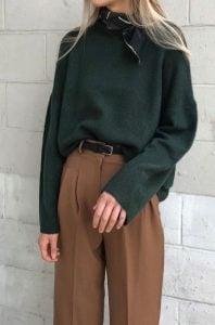 vestido formal con suéter