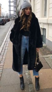 ropa de invierno con piel